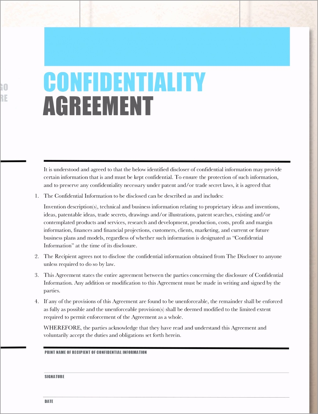 confidentiality agreement non disclosure agreement 5abd80c4 inbep