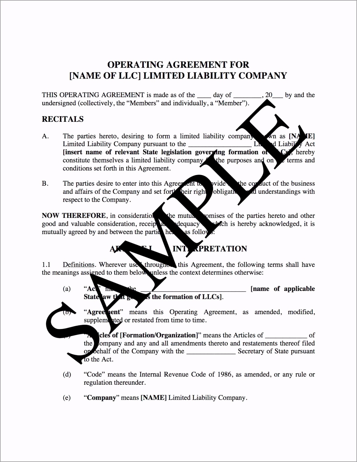 llc operating agreement for real estate usa pawry