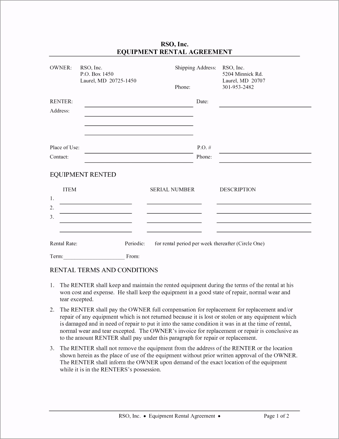 lease agreement application form 10 best of equipment rental agreement template free pprpt