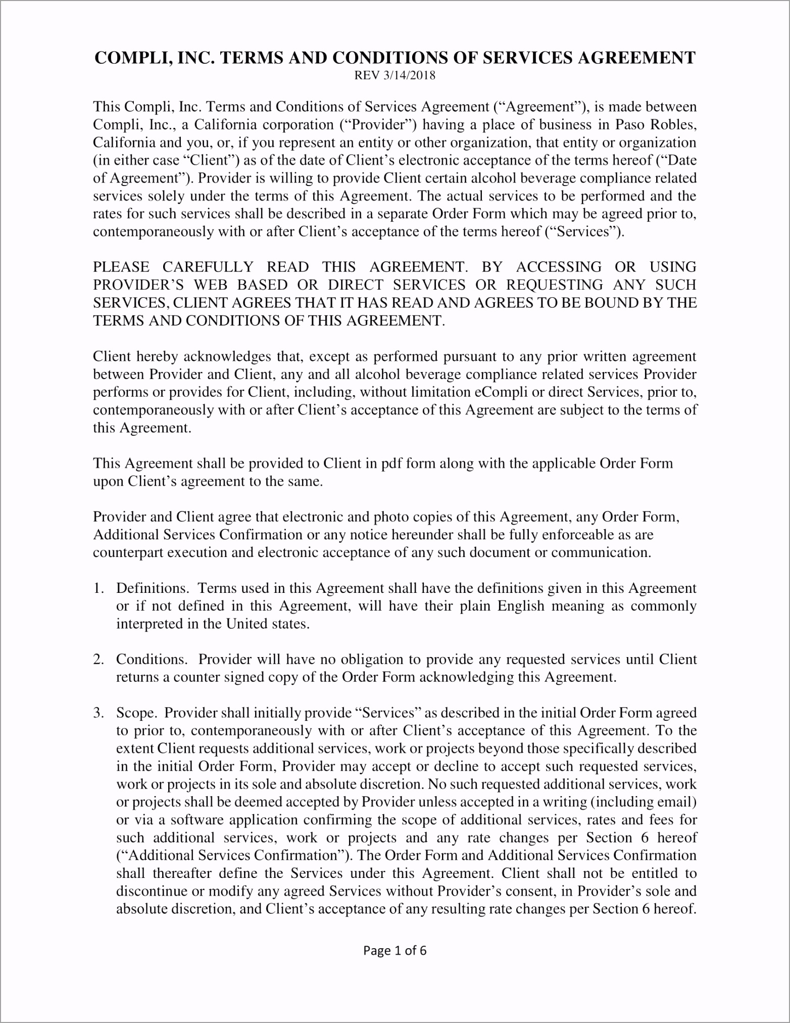Services Agreement Contract Template Example 1 wyiwc