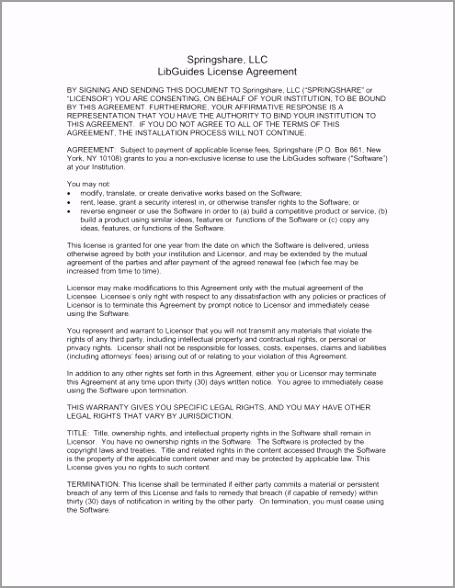 springshare llc libguides license agreement iyati