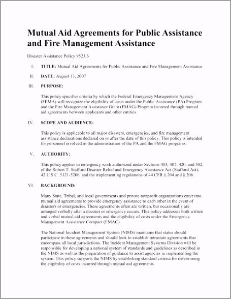 mutual aid agreement for public assistance washington state trcae