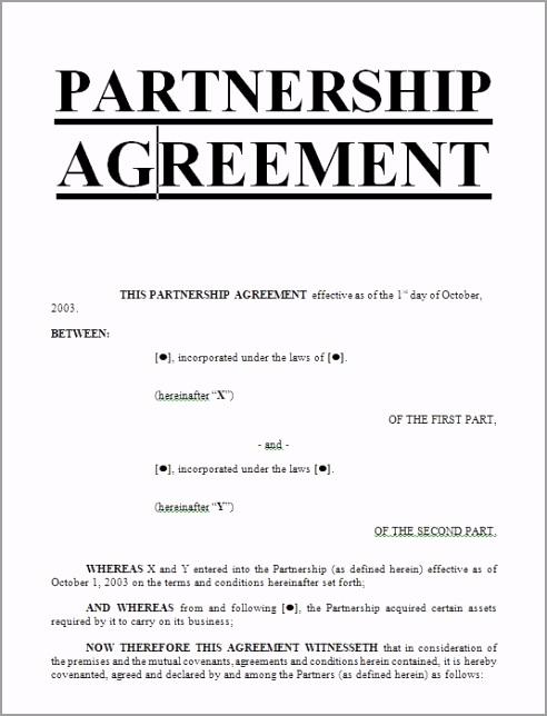 Partnership agreement sample template Download 2 JPG tiyti