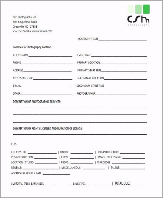 photography license agreement template photography license agreement template blank formatted pdf doc wauou