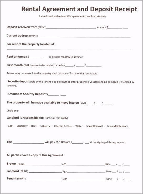 Free Printable Rental Agreement Forms 001 iarwo