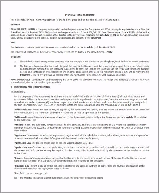 simple Personal Loan Agreement Sample1 aryxu