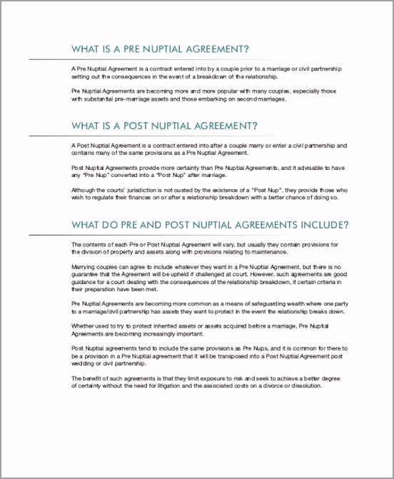 Post Prenuptial Agreement Template In PDF wtwju