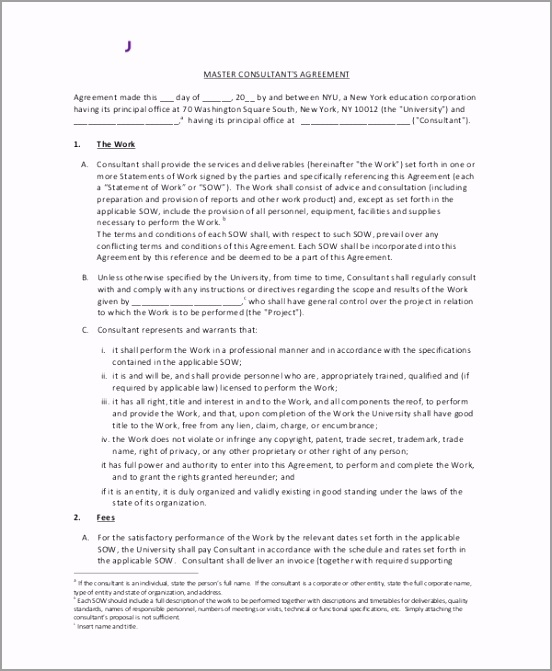 Standard Consulting Agreement Sample ayoea