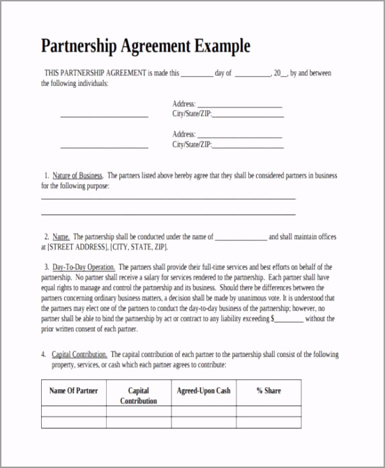 Formal Business Partnership Agreement yetoy