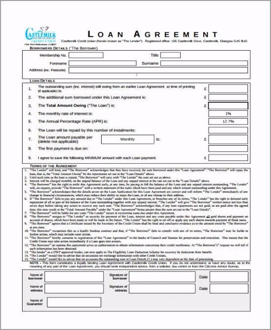 Simple Interest Loan Agreement Form wuaio