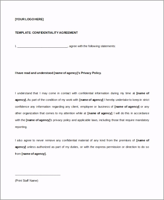 Example Celebrity Confidentiality Agreement Template oriop