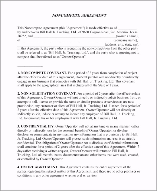 Non pete Agreement Form11 ppoyr