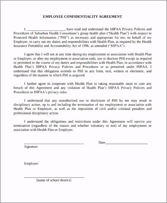 HIPAA Employee Confidentiality Agreement Form rlpar