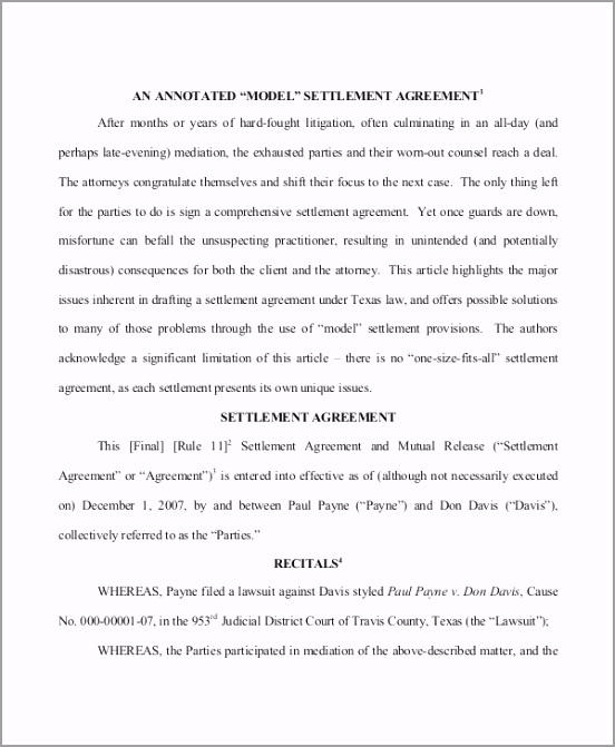 Settlement Agreement for Real Estate itpub