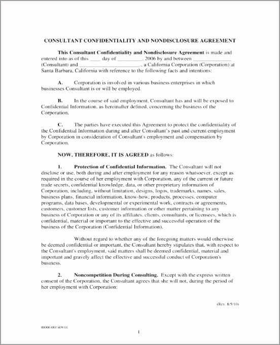 Consultant Confidentiality and Non Disclosure Agreement 1 titrt