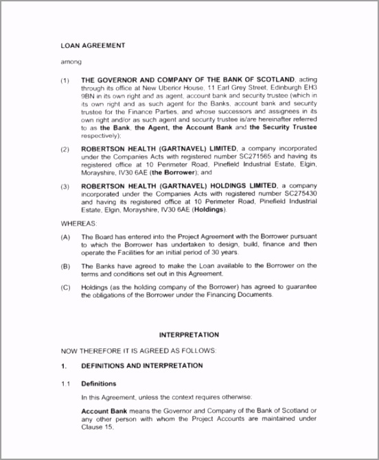 Business Investment Loan Agreement yytye
