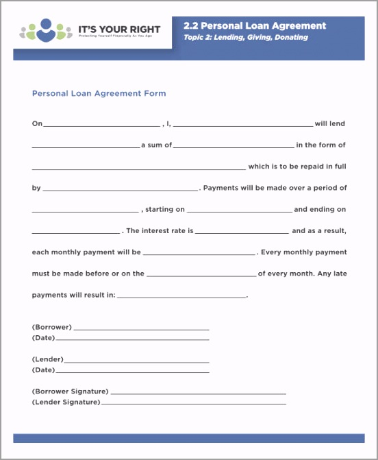 Simple Personal Loan Agreement PDF uawru