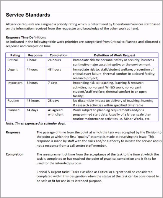 service level agreement templates maintenance service level agreement template iyaqt