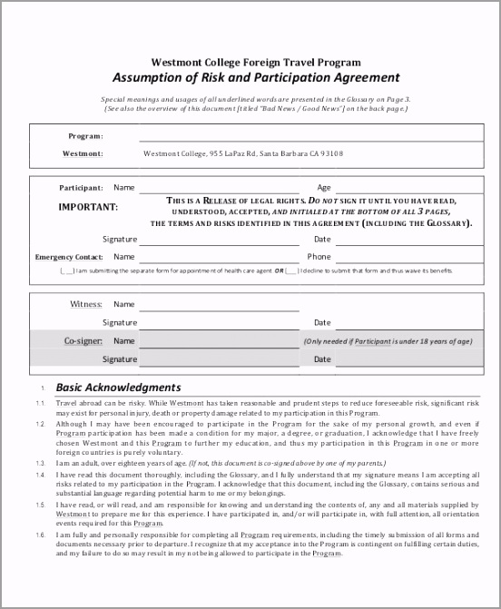 Risk Participation Agreement aorry