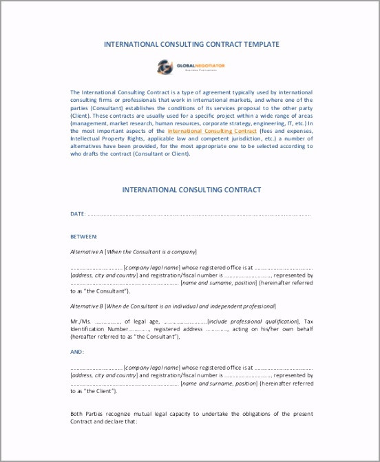 Consulting Contract Template tupur