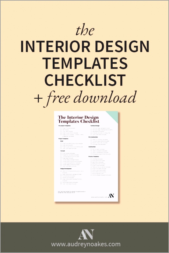 the interior design templates checklist pin5 rpeuy