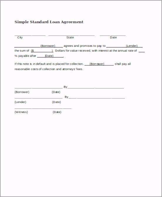 Simple Standard Loan Agreement uheiu