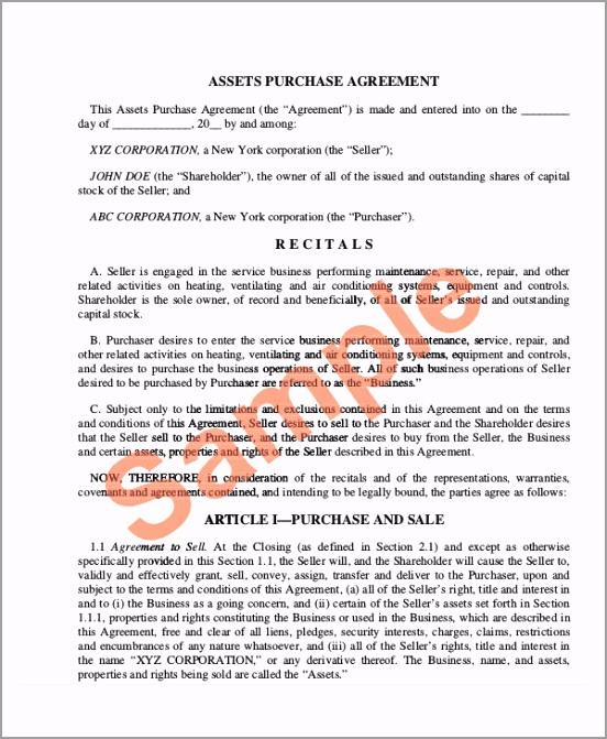 Business Asset Purchase Agreement rifuw