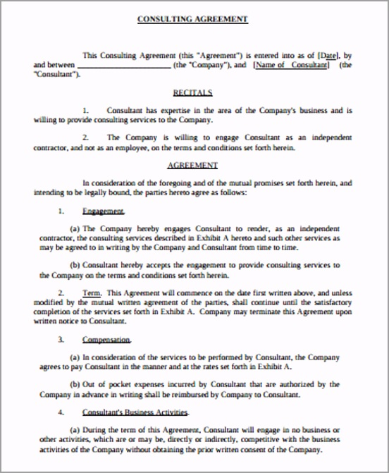 Simple Consulting Agreement Form PDF uaeye