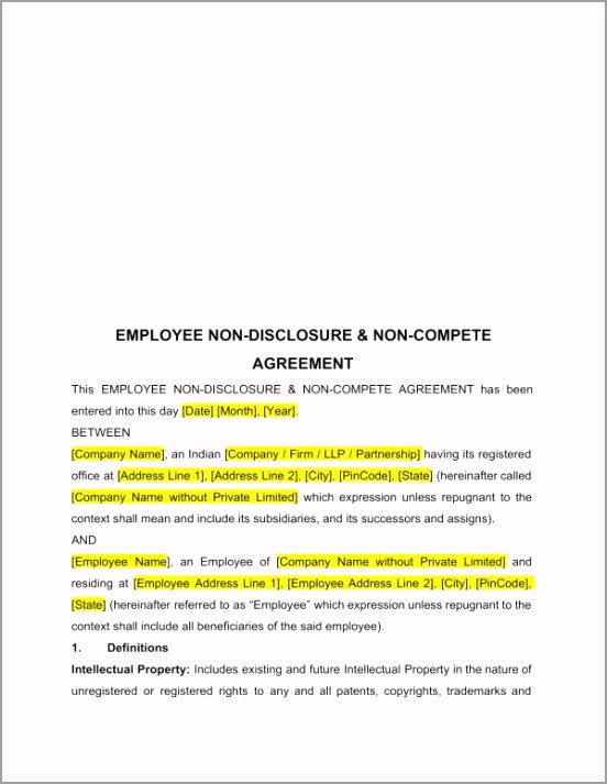 Printable Employee Non Disclosure and Non pete Agreement 1 tttip
