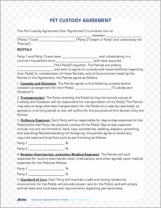child custody contract joint custody postnuptial agreement parenting plan child apate
