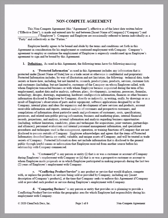 CleanTech Docs Non pete Agreement 1024x1024 ytaww