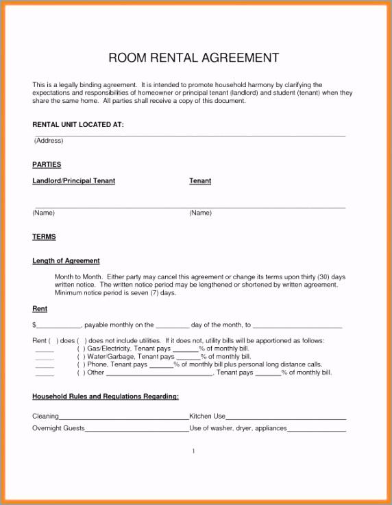templates free roommate room rental agreement template rtoea