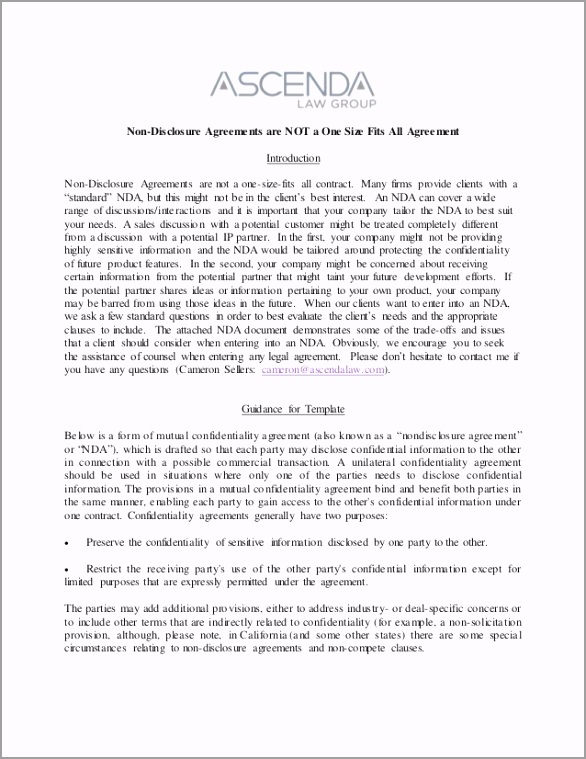 nondisclosure agreements training notes and template 1 638 eypnt