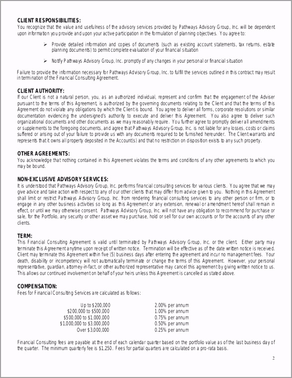 financial consulting agreement 2 638 weyyi