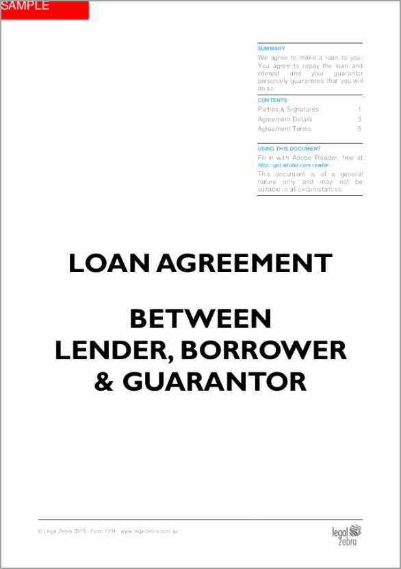 loan agreement between lender borrower guarantor template sample 1 638 uiery