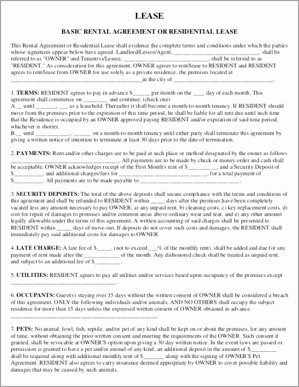 lease basic rental agreement lease 1 1 638 FTPuNE powiw