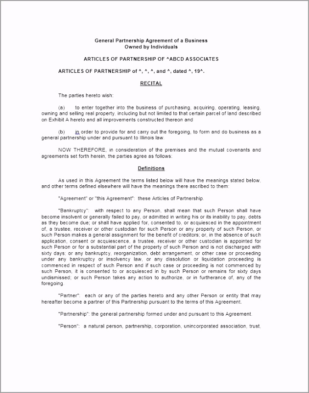 Partnership Agreement Template 04 ytouw