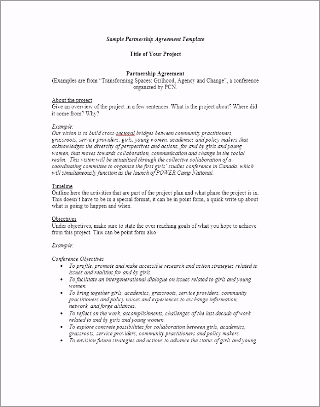 Partnership Agreement Template 34 uyoip