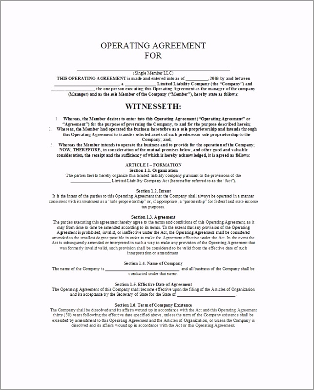 llc operating agreement template 13 oeoio