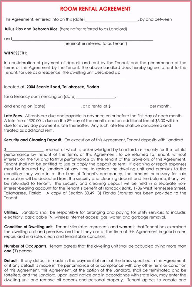 Room Rental Agreement Template1 aruuo