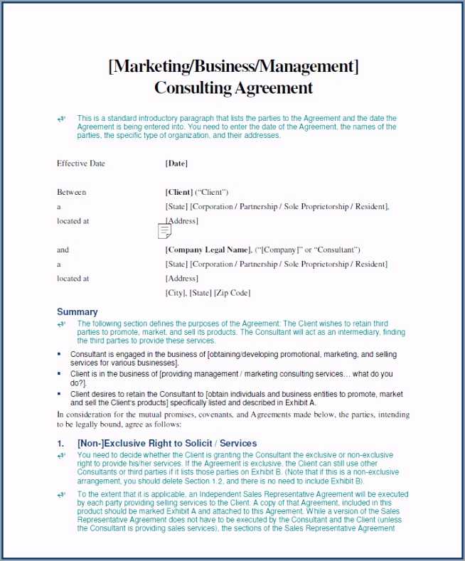 Business Consultant Contract Agreement Template eigae