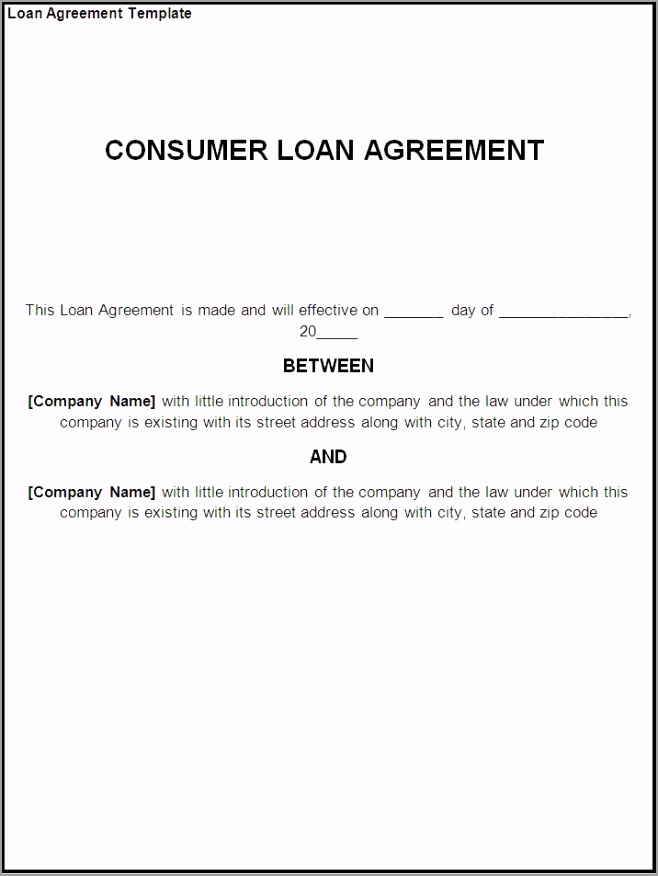 business template clever consumer loan agreement template example eeter