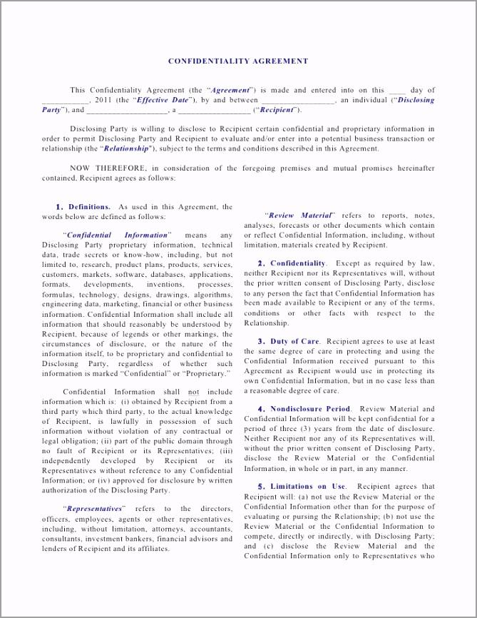 unilateral nda individual disclosing to corporation 1 728 intoy