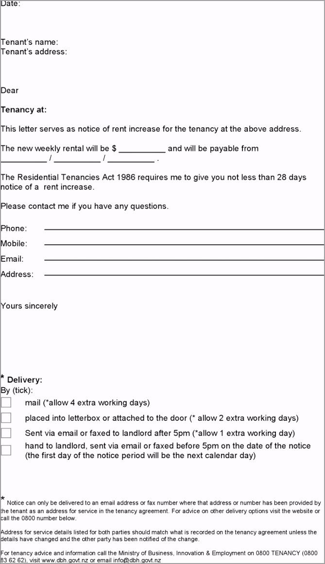 notice of rent increase boarding house tenancy agreements aarit
