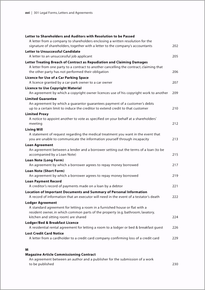 301 legal forms letters and agreements sample chapter 12 728 irpoe