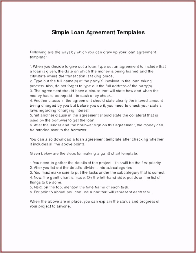 simple loan agreement template word secured personal format india ittte
