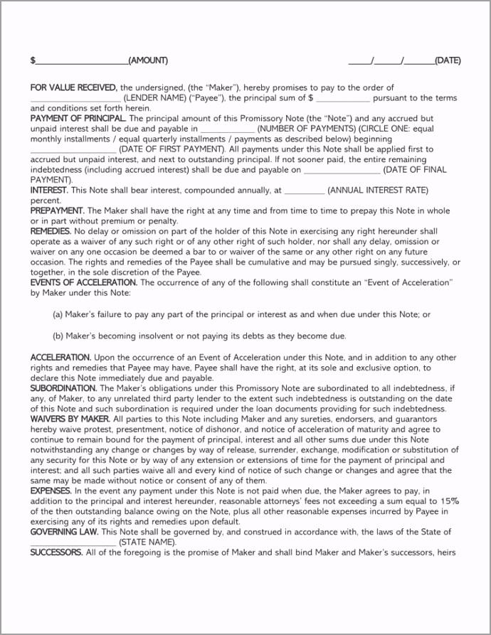 Family loan agreement form erroc
