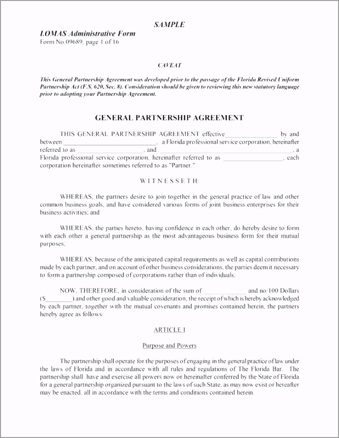 basic partnership agreement template general channel partner real simple doc pdf iytiu