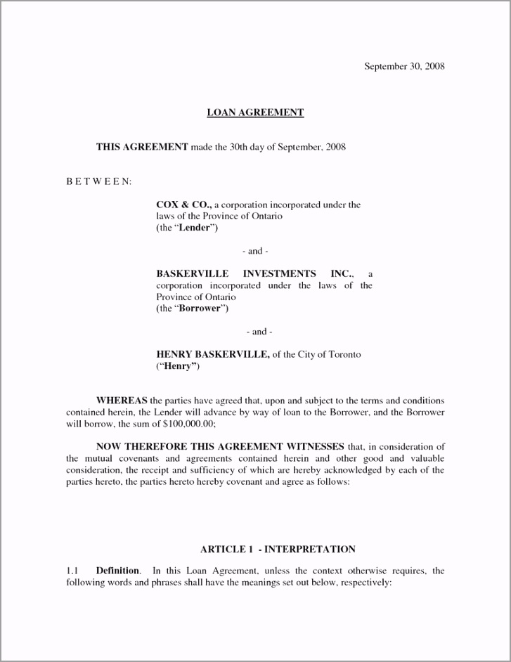 basic loan agreement form brilliant simple investment contract template inspirational sample investor of basic loan agreement form tyoua