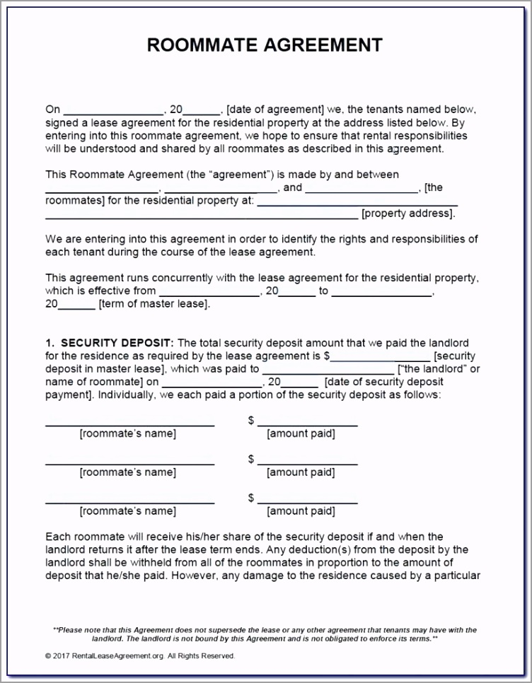 simple one page lease agreement template south room rental form c typename ruueu